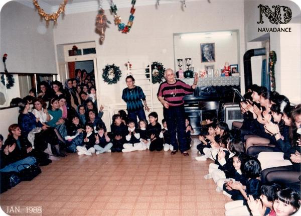 родители с детьми на Новый год в школе мадам Лазарян